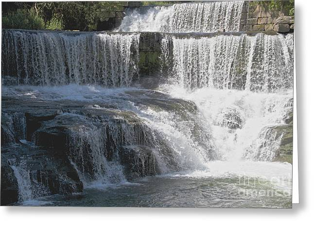 Keuka Seneca Waterfall Greeting Card by William Norton