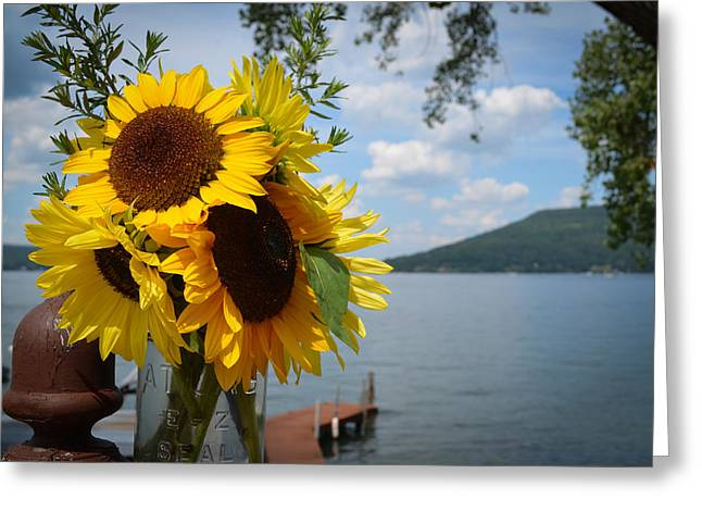 Keuka Greeting Cards - Keuka Summer Greeting Card by Devan M