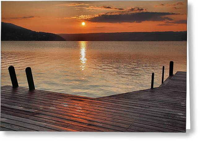 Keuka Sunrise II Greeting Card by Steven Ainsworth