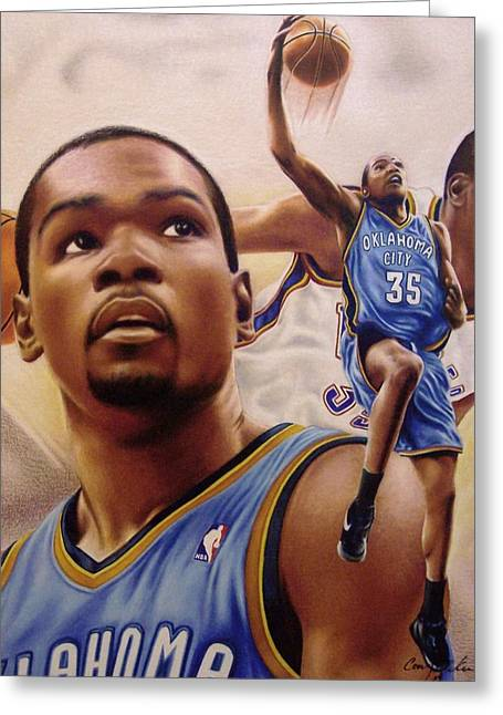 Kevin Durant Greeting Cards - Kevin Durant Greeting Card by Cory McKee