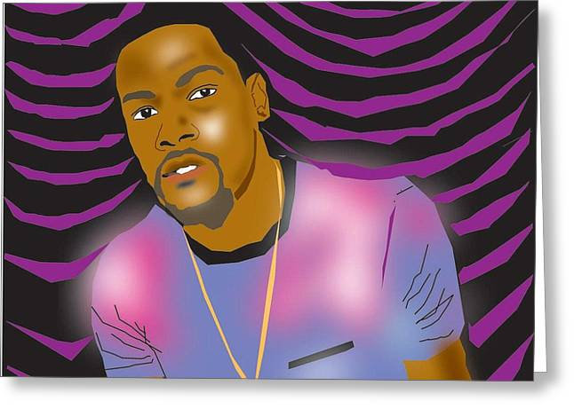 Kevin Durant Greeting Cards - Kevin Durant Greeting Card by Michael Chatman