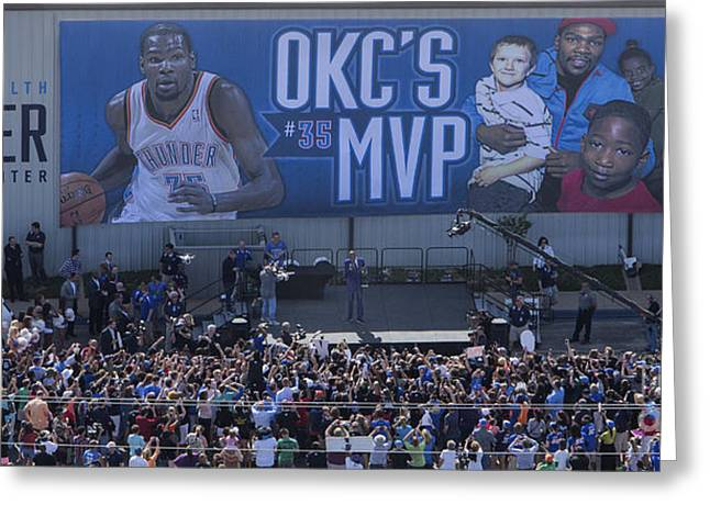 Kevin Durant Greeting Cards - Kevin Durant MVP Greeting Card by Cooper Ross