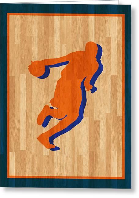 Oklahoma City Thunder Greeting Cards - Kevin Durant Oklahoma City Thunder Greeting Card by Joe Hamilton