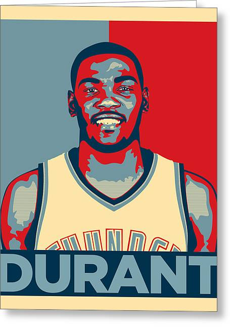 Miami Heat Posters Greeting Cards - Kevin Durant Greeting Card by Taylan Soyturk