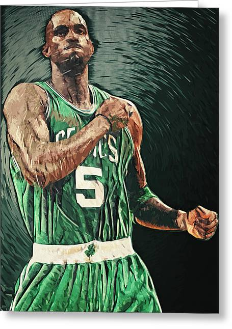 Minnesota Timberwolves Digital Greeting Cards - Kevin Garnett Greeting Card by Taylan Soyturk