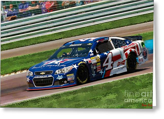 Kevin Harvick 2014 Greeting Card by Blake Richards