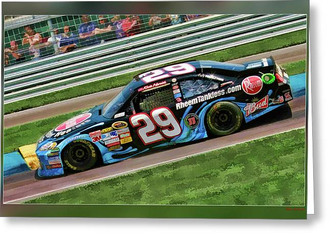 Kevin Harvick Greeting Card by Blake Richards