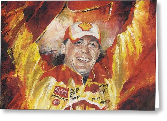 Kevin Harvick Greeting Card by Christiaan Bekker