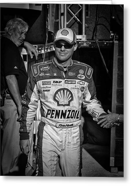 Kevin Harvick Greeting Card by Kevin Cable