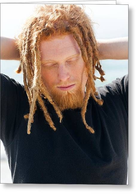 Dread Locks Greeting Cards - Kevin Greeting Card by Invicta I Shoot the Hotness