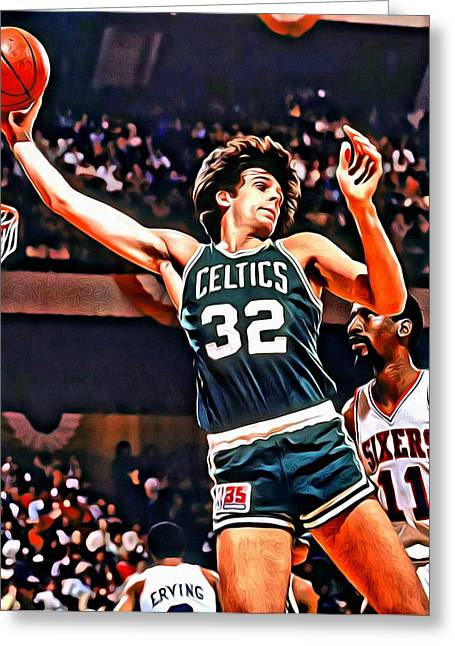 Slamdunk Greeting Cards - Kevin McHale Greeting Card by Florian Rodarte
