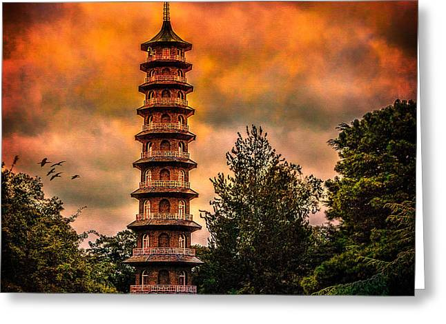 Kew Gardens Pagoda Greeting Card by Chris Lord
