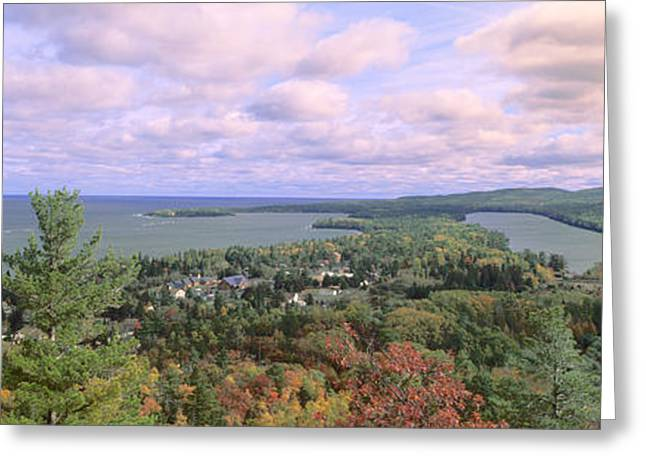 Fall Colors Greeting Cards - Keweenaw Peninsula And Copper Harbor Greeting Card by Panoramic Images