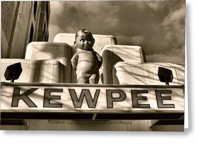 Cheeseburger Greeting Cards - Kewpee Restaurant Greeting Card by Dan Sproul