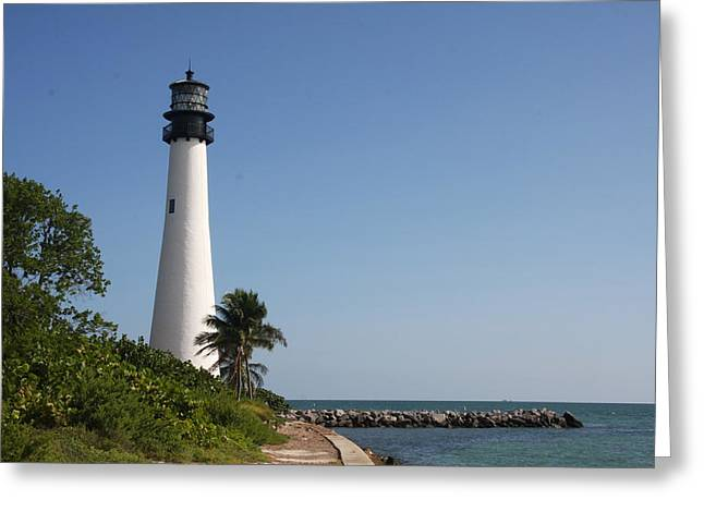 Forida Greeting Cards - Key Biscayne Lighthouse Greeting Card by Christiane Schulze Art And Photography
