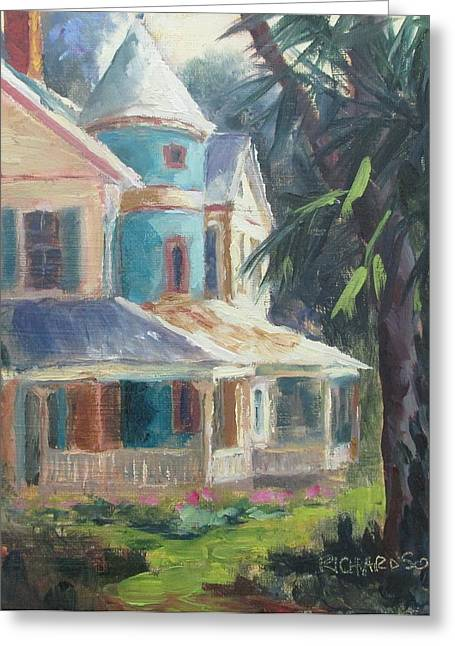 Town Of Franklin Greeting Cards - Key House Greeting Card by Susan Richardson