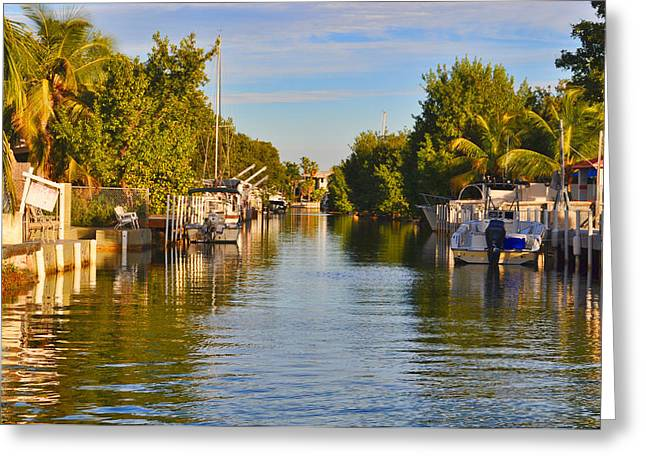 Atlantic Beaches Greeting Cards - Key Largo Canal 2 Greeting Card by Chris Thaxter