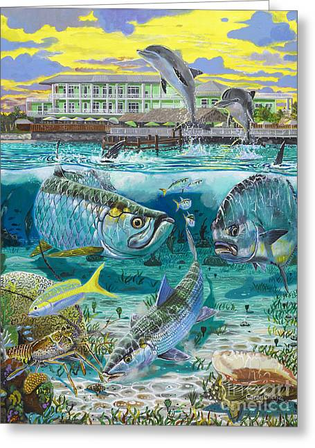 Bonefish Greeting Cards - Key Largo grand slam Greeting Card by Carey Chen