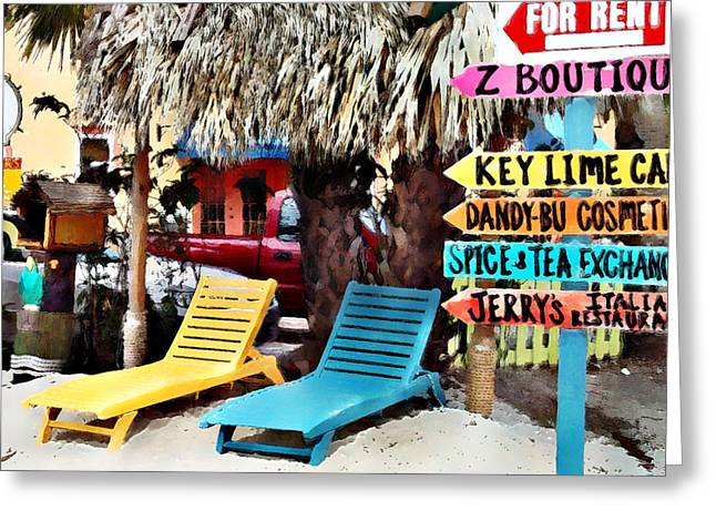 Beach Greeting Cards - Key Lime Cafe Greeting Card by Robert Smith