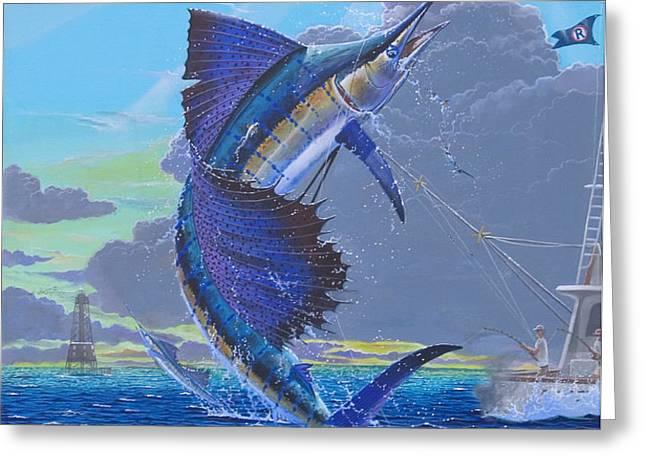 Key Sail Off0040 Greeting Card by Carey Chen