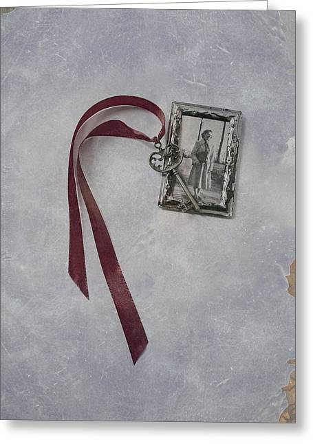 Picture Frame Greeting Cards - Key To My Memories Greeting Card by Joana Kruse