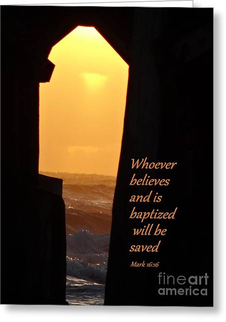 Gospel Greeting Cards - Key to Salvation Greeting Card by Deborah Berry