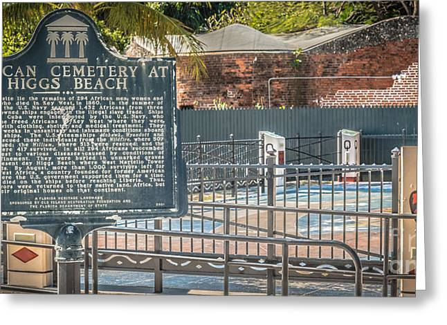 Slavery Greeting Cards - Key West African Cemetery 7 - Key West - Panoramic - HDR Style Greeting Card by Ian Monk