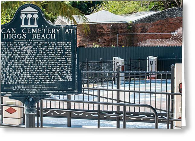 Slavery Greeting Cards - Key West African Cemetery 7 - Key West - Panoramic  Greeting Card by Ian Monk