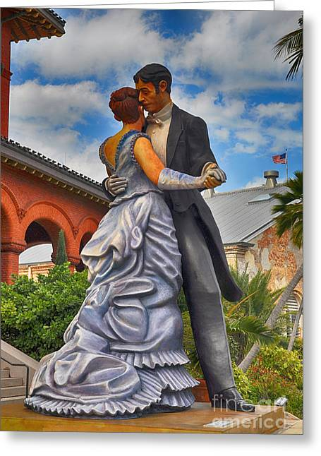 Florida House Greeting Cards - Key West Ballroom Dancers Greeting Card by Chris Thaxter