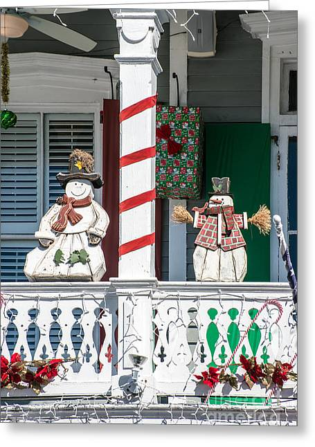 Liberal Greeting Cards - Key West Christmas Decorations 2 Greeting Card by Ian Monk