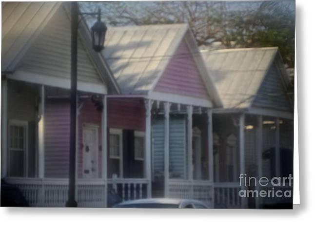 Photorealism Greeting Cards - Key West Cottages Greeting Card by Deborah Talbot - Kostisin