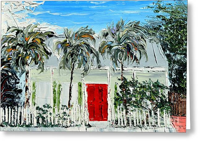 Pallet Knife Greeting Cards - Key west home Greeting Card by David Sigel