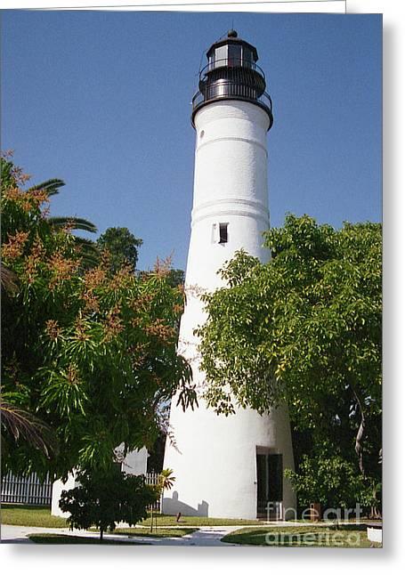 Crystal Nederman Greeting Cards - Key West Lighthouse Greeting Card by Crystal Nederman