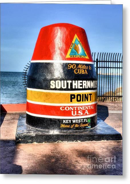Key West Marker Greeting Card by Mel Steinhauer