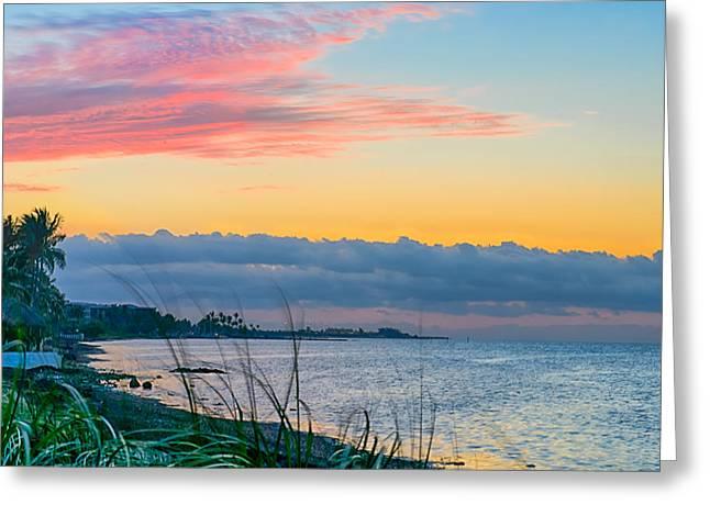 Florida Keys Greeting Cards - Key West Morning Greeting Card by Vaughn Garner