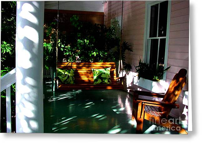 Key West Greeting Cards - Key West Porch Greeting Card by Susanne Van Hulst