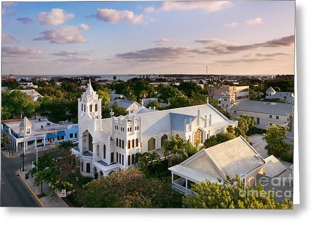 Townscape Greeting Cards - Key West Greeting Card by Rod McLean