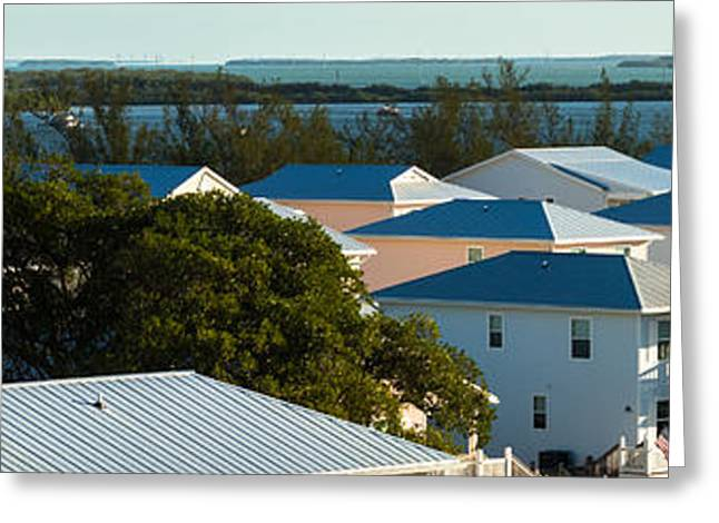 Tin Roof Greeting Cards - Key West Rooftops Greeting Card by Ed Gleichman