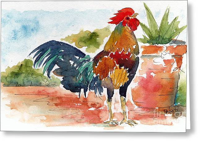Sienna Greeting Cards - Key West Rooster Greeting Card by Pat Katz