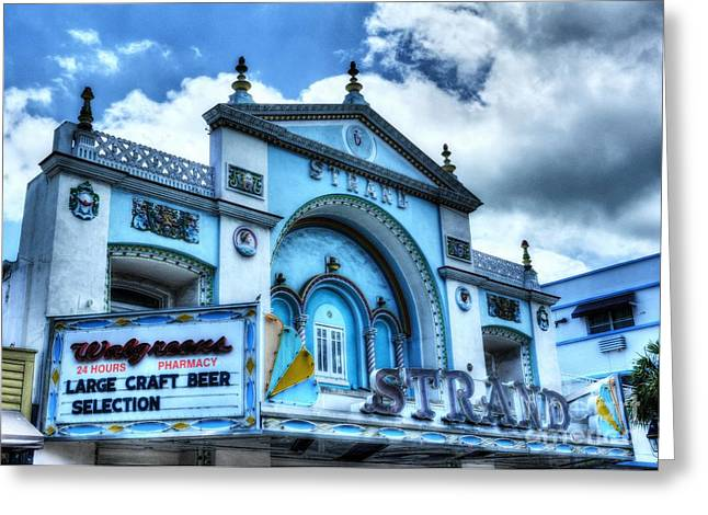 Kew Greeting Cards - Key West Strand Theater Greeting Card by Mel Steinhauer