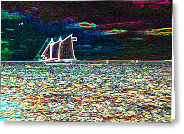 Schooner Greeting Cards - Key West Style Greeting Card by Art Mantia