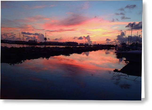 Marlin Tournaments Greeting Cards - Key West Sunrise Greeting Card by Carey Chen