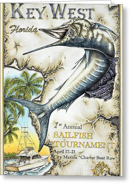 Row Pastels Greeting Cards - Key West Tournament Greeting Card by Mike Williams