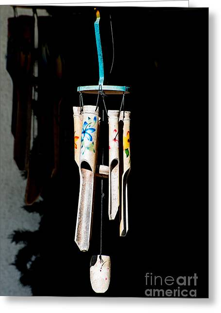Wind Chimes Greeting Cards - Key West Wind Charm  Greeting Card by Ian Monk