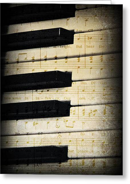 Keyboard Music Greeting Card by Kenny Francis
