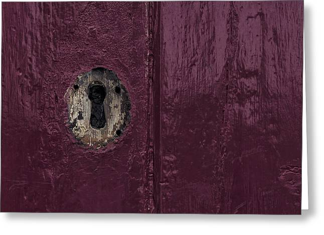 Architectur Greeting Cards - Keyhole Greeting Card by Joana Kruse