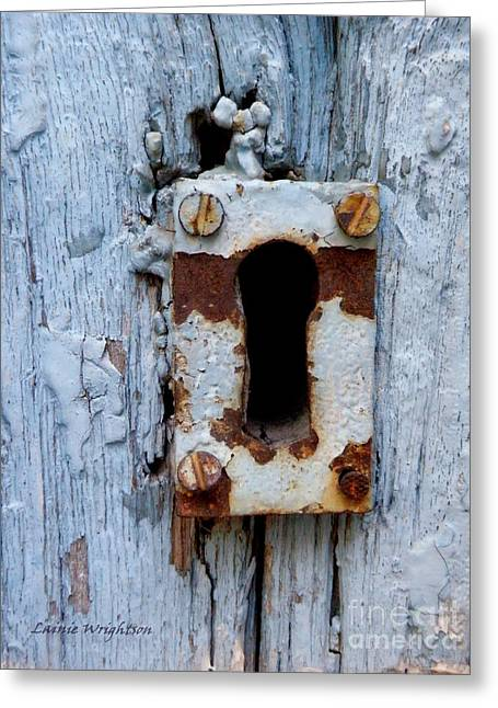 Keyhole Greeting Card by Lainie Wrightson