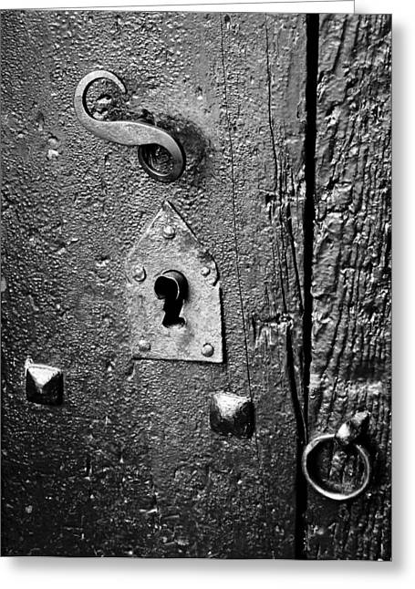 Keyhole Greeting Card by Pablo Lopez