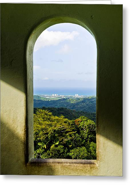 Puerto Rico Greeting Cards - Keyhole to heaven Greeting Card by Chelsea Stockton