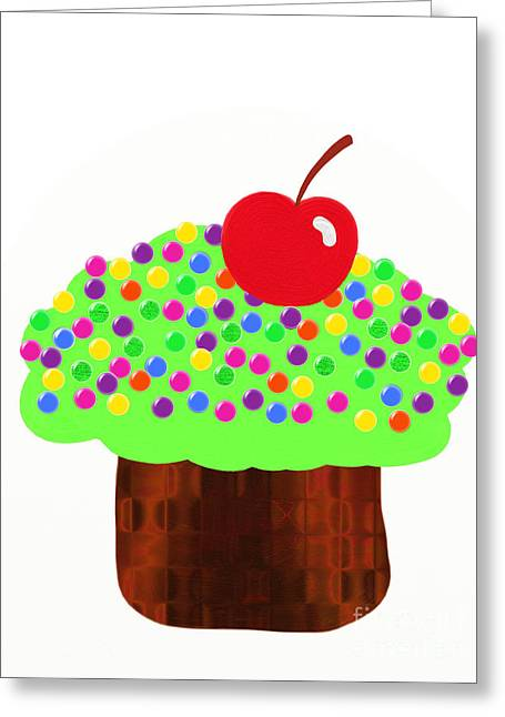 Frosting Digital Greeting Cards - Keylime Cupcake Greeting Card by Andee Design